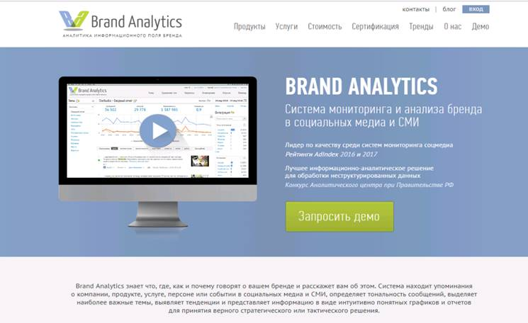 сервис brand analytic возможности