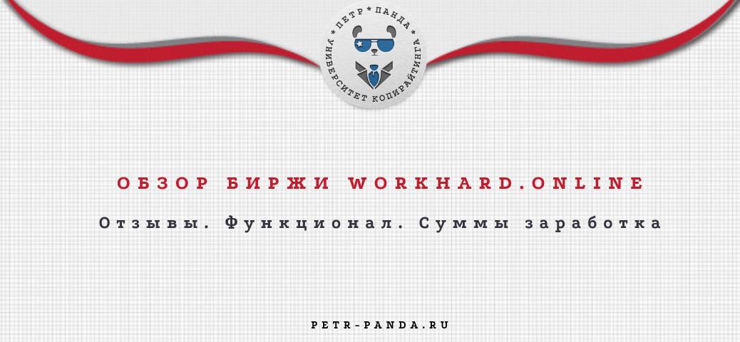 Обзор биржи WorkHard.online. Отзывы о заработках и фнкционале