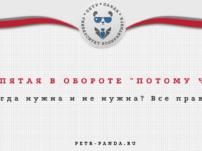 """Запятая """"потому что"""". Примеры и правила русского языка"""