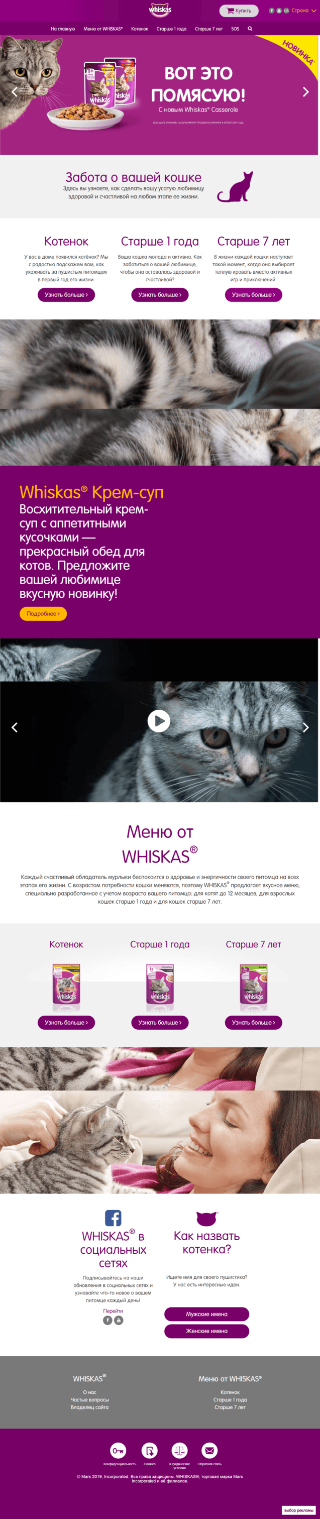 Пример текста для ЦА - владельцев кошек