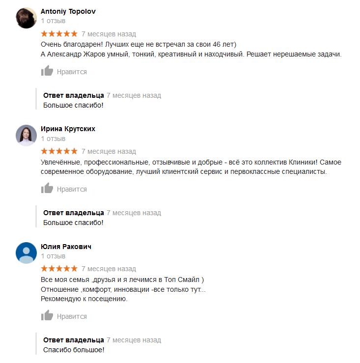 Слабый ответ на отзыв