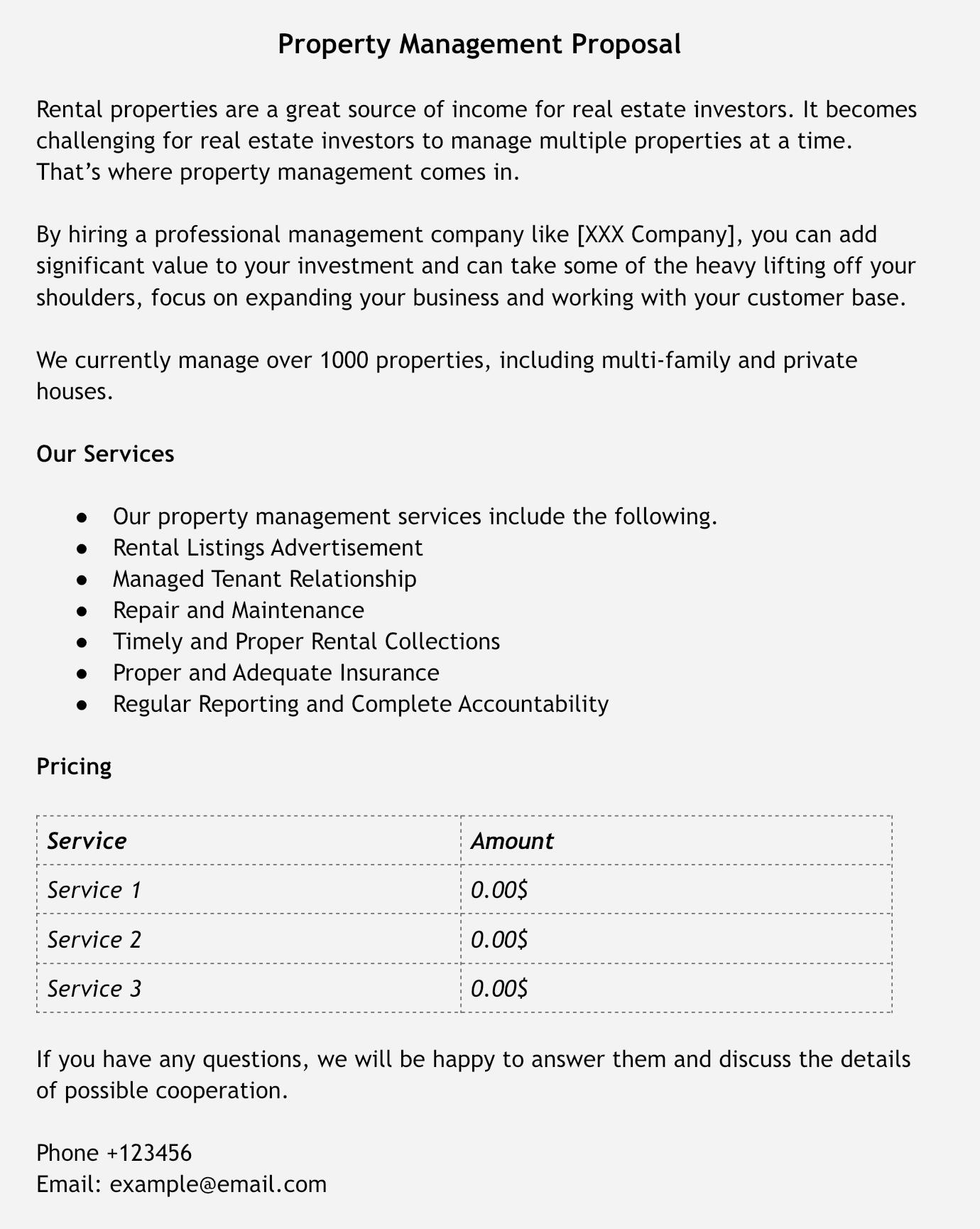 Образец коммерческого предложения для компании недвижимости на английском языке